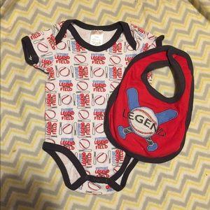 Other - Baby onesie and matching bib